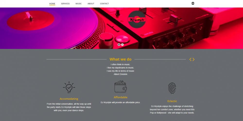 DJ Krystyle Webpage